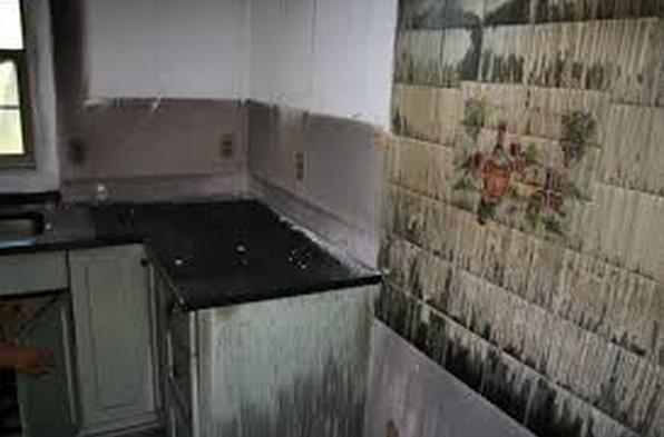 fire damaged granite countertops