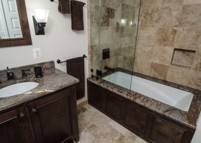 Brown Granite Bath