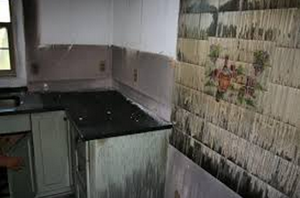 fire damaged granite countertops